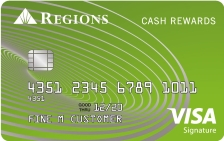 Regions Cash Rewards Visa® Signature Credit Card