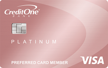 Credit One Platinum Rewards Visa with No Annual Fee
