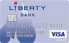 Liberty Bank Visa Signature® College Real Rewards Card