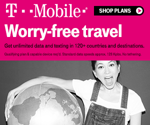 t-mobile international roaming worry-free travel ad