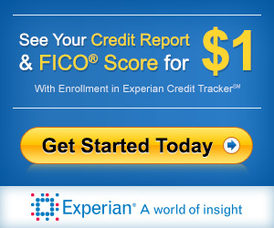 Experian $1 Trial Credit reporting