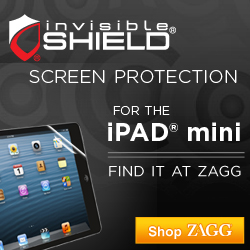 Protect your iPad mini with a screen protector from ZAGG.