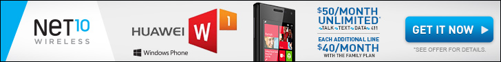 Get the Huawei Windows Phone from Net10 Wireless