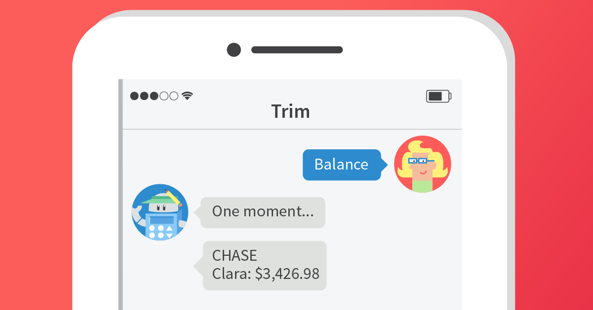 Trim Financial mobile application
