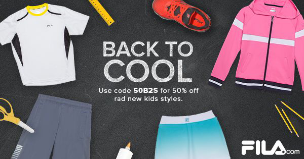 50% off our entire kid's