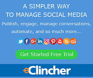 eClincher Social Media Management Tool Free Trial