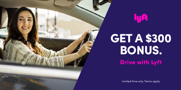 free money with Lyft - $300 bonus