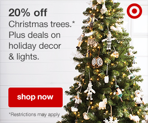 20% off Christmas trees. Valid