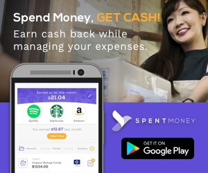 phone displaying cash back for spent money app