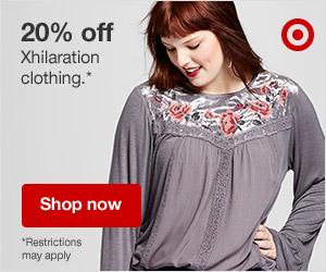 20% off Xhilaration Clothing.