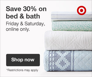 Up to 25% off bed & bath + an