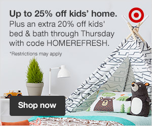 Up to 25% off kids' home + an