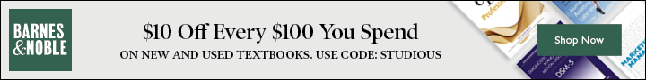 Save $10 off $100 on Textbooks