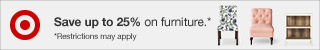 Up to 25% off Home items.
