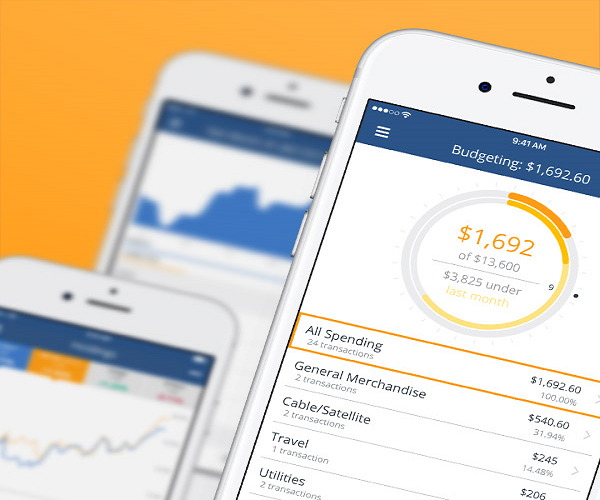 smartphone screen displaying personal capital tools