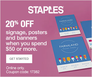 Staples coupons posters