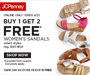 e1c75b5af2e1 JCPenney  Buy 1 Get 2 FREE Sandals