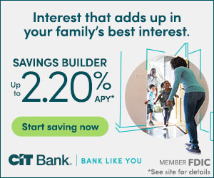 CIT Bank savings builder