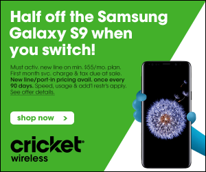 Save Half Off The Samsung Galaxy S9 When You Switch To Cricket