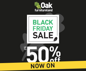 Oak Furnitureland: 50% off Black Friday Sale