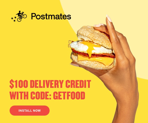Postmates delivery coupon