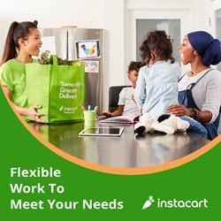 food delivery side hustle company Instacart