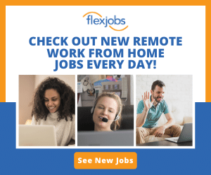 Flexjobs for daily remote work at home jobs