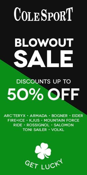 Blowout Sale Half Page