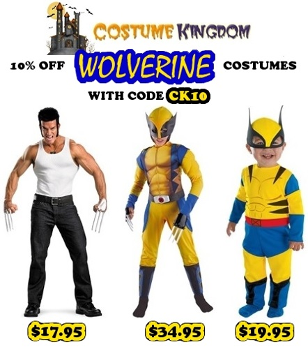 10% off Wolverine Costumes