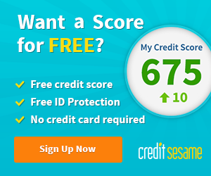 Sign up for free credit sesame credit score id protection with no credit card required