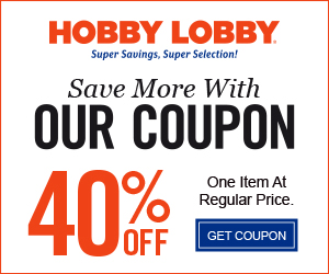 image regarding Hobby Lobby Coupon Printable named Interest Foyer on the net discount coupons military services financial savings promo code