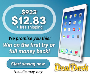 Join DealDash, win an auction on your first try or your money back