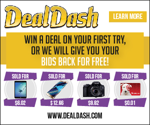 Special deal from DealDash - get your bids returned for free